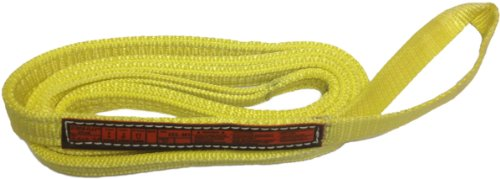 Stren Flex EET2-901-5 Type 4 Heavy Duty Nylon Twisted Eye and Eye Web Sling, 2 Ply, 3200 lbs Vertical Load Capacity, 5' Length x 1