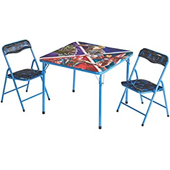 Amazon.com: Juego de mesa y silla plegable para niños, Acero ...