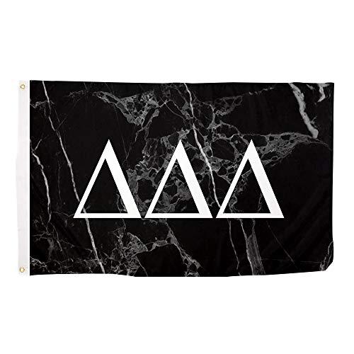 Delta Delta Delta Tri Delta Dark Marble Sorority Letter Flag
