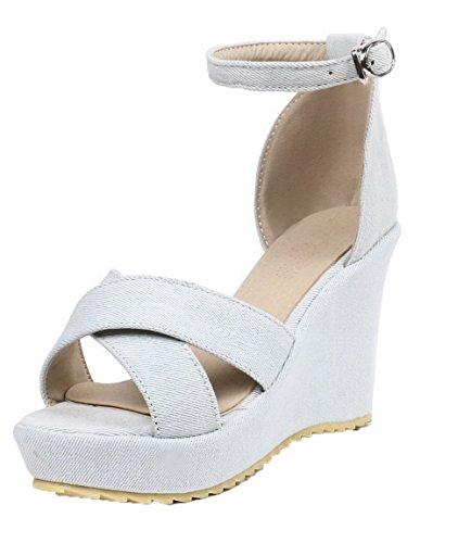 Beige con sandali Toe Tsmlh006815 con fibbia Open Aalardom eleganti Women YwIzaxAnqT
