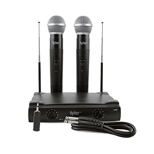 Pdwm2500 Dual Vhf Wireless Microphone - Tyler TWM301 Dual VHF Wireless Microphone System, Two (2) Microphones, Fixed Frequency
