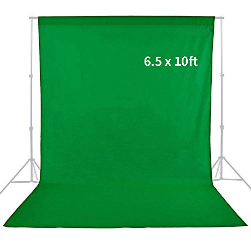 MountDog Professional Green Screen Sheet Muslin Backdrop 6.5ft x 10ft Studio Photography Background (Green, Stand NOT Included)