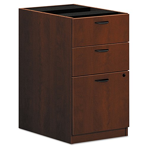 HON BL Series Pedestal File , 2 Box / 1 File Drawer , 15-5/8''W , Medium Cherry Finish by HON
