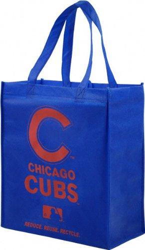 Chicago Cubs Bean Bag - Chicago Cubs Printed Non-Woven Polypropylene Reusable Grocery Tote Bag