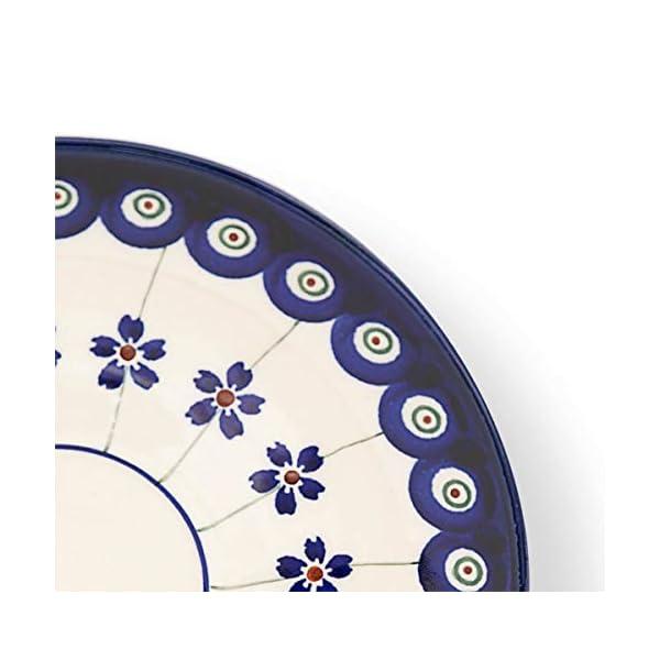 Bunzlauer Ceramic Saucer Diameter 16.00 cm Height 1.8 cm Decoration 166a