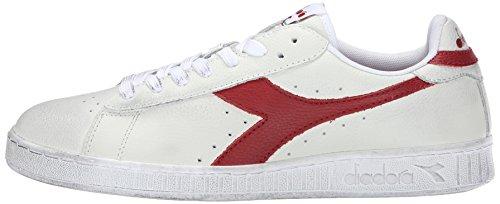 Diadora Collo Sneaker – a L Waxed Bianco Basso Low Unisex Rosso Bianco Adulto Peperone Game rxwrqYB