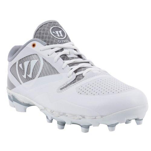 Warrior Men's Gospel Lacrosse Shoe, White/Silver, 9.5 D US