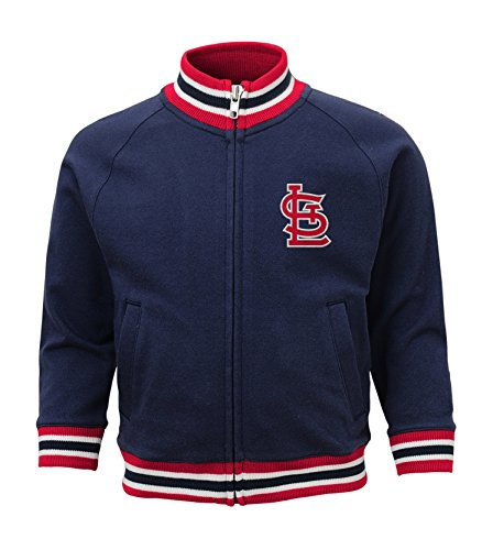St Louis Cardinals Jackets (MLB St. Louis Cardinals Toddler Boys Baseball Run Track Jacket-3T, Athletic Navy)