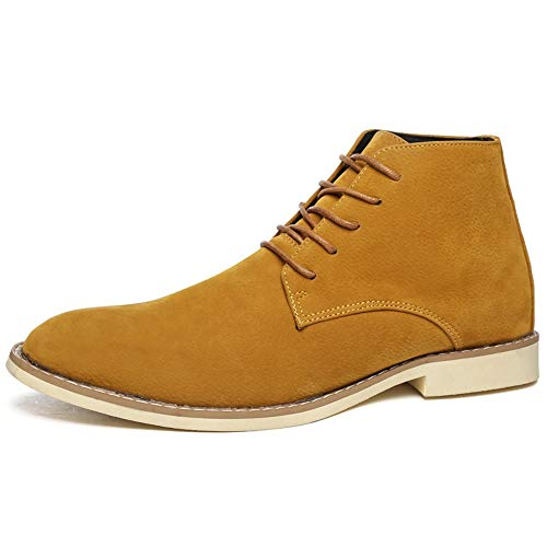 Jincosua Scarpe stringate da uomo Classic Chukka Scarpe morbide suola antiscivolo Casual Walking Boots (Colore : Marrone, Dimensione : EU 44)