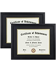 ELSKER&HOME 8.5×11 Certificate Frame - Classic Black Color Frame - Document&Certificate - Displays Displomas 8.5×11 Inch - for Document/Photo