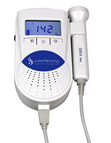 SweetieSong EZD-100ST Pocket Fetal Doppler 3MZ Probe, Baby Heart Monitor