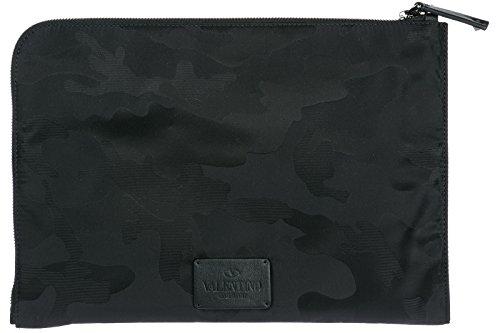 Valentino borsa uomo a mano in nylon originale nero