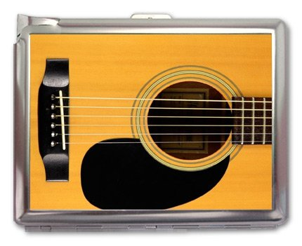 Retro Guitar Cigarette Case Lighter Wallet
