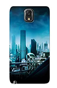 Downtown Fashion Tpu Case For Galaxy Note 3- Batman Begins Gotham Train Defender City Case Cover For Lovers