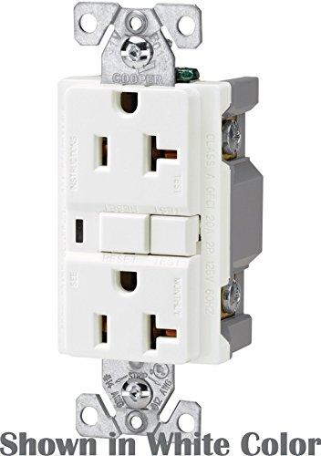 (10 Pack) Cooper Wiring Devices VGF20BK 20-Amp Decorator Duplex Receptacle, Black
