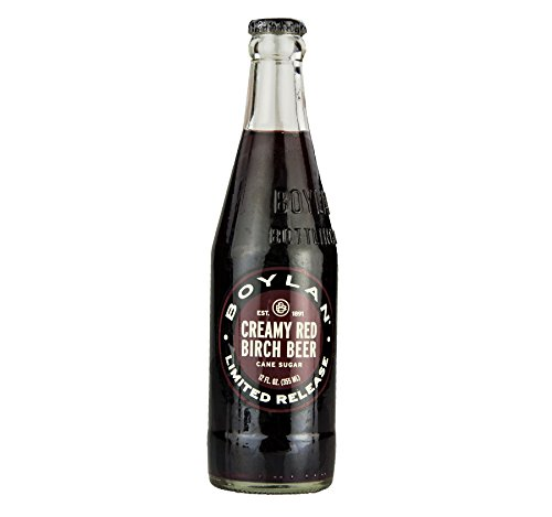 Boylan Cane Sugar Creamy Red Birch Beer 12 oz. (24 Bottles)