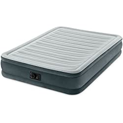 "Intex Comfort Plush Mid Rise Dura-Beam Airbed Built-in Electric Pump, Bed Height 13"", Full"