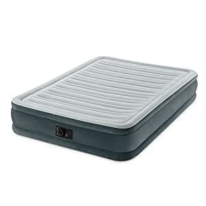 """Intex Comfort Plush Mid Rise Dura-Beam Airbed with Built-in Electric Pump, Bed Height 13"""", Full"""