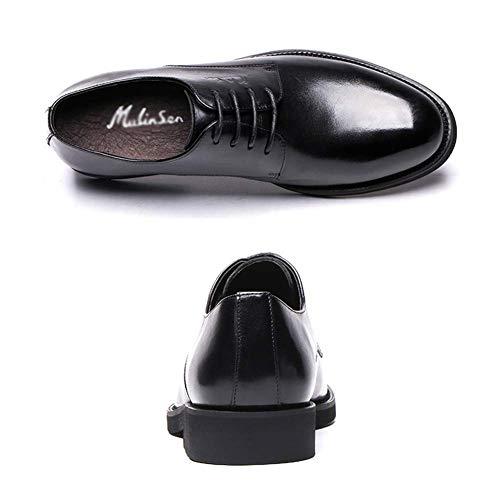 de UK 8 para US Hombres los para los Vestir tamaño 7 HhGold de Negro Encaje Zapatos de Arriba Marrón Ocasionales Hombre Hombres de Cuero Color Zapatos para los Hombres de cómodos CFwqxp5
