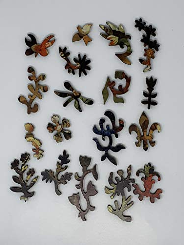 Wooden Jigsaw Puzzle - Flowers, 1780-172 Unique Wooden Pieces - Made in The USA by Nautilus Puzzles - Challenge Any Puzzle Lover
