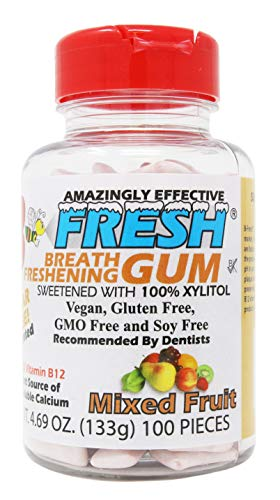 B FRESH Breath Freshening Fruit Gum Bottle, 100 Count