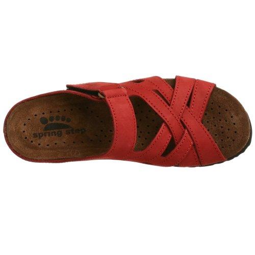 Passo Molla Donne Sabra Diapositiva Sandalo Rosso