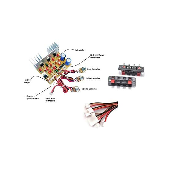 ERH INDIA Ready to use 4.1 Home Theater Amplifier Circuit Board Kit for Home Theatre Complete Home Theatre Amplifier