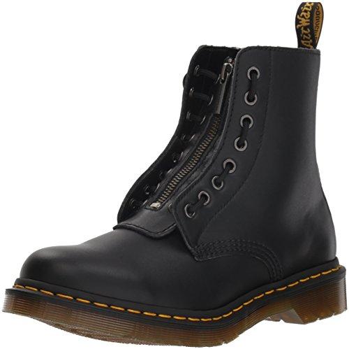 Dr. Martens Women's 1460 Pascal FRNT Zip Mid Calf Boot, Black, 5 M UK (7 US)