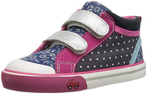 See Kai Run Girls' Kya Sneaker Navy Corduroy/Multi 8 M US ()