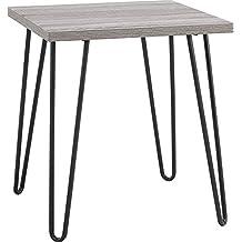 Ameriwood Home Owen Retro End Table, Sonoma Oak/Gunmetal Gray