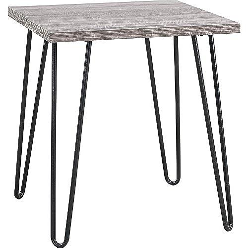 Altra Owen Retro End Table, Sonoma Oak/Gunmetal Gray