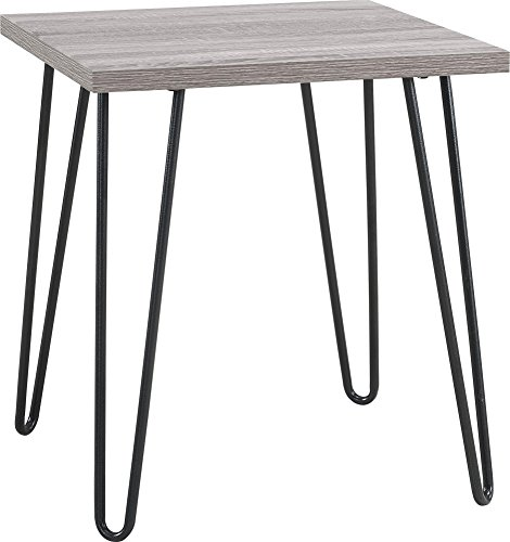 (Ameriwood Home Owen Retro End Table, Sonoma Oak/Gunmetal Gray)