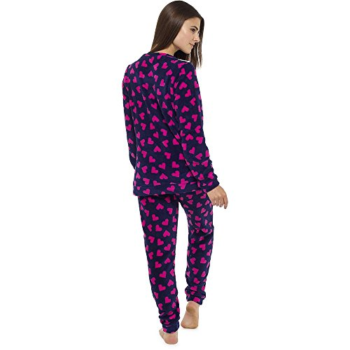 Womens CHRISTMAS Pyjamas Animal Print Warm Cosy soft Fleece Nightwear LoungeWear