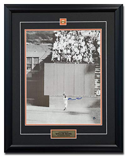 - Willie Mays Autographed Photo - World Series Catch 25x31 Frame - Autographed MLB Photos