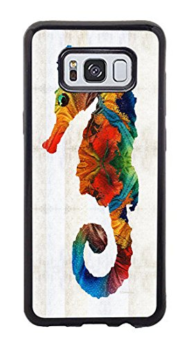 Zenzzle for Samsung Galaxy S8 [Not Fit S8 Plus] - Colorful Seahorse Art By Sharon Cummings - Shock Absorption Protection Phone Cover - Cumming Women Pictures