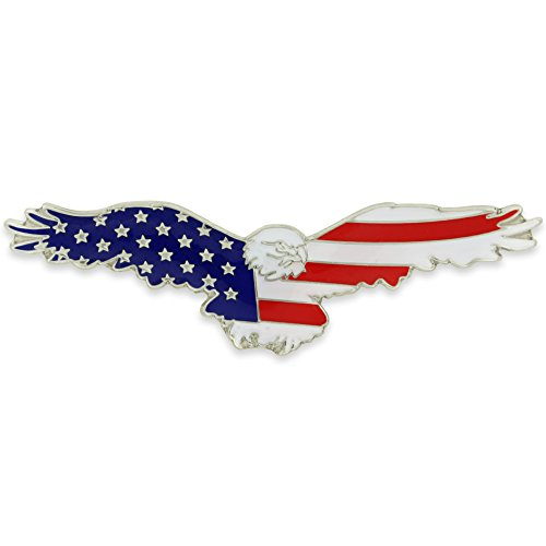 PinMart American Flag Patriotic Soaring Eagle Enamel Lapel Pin by PinMart