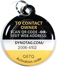 Dynotag Web Enabled Smart Deluxe Steel Property ID Tag + Steel Ring, with DynoIQ & Lifetime Recovery Serv