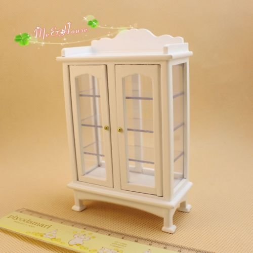 1/12 dollhouse miniature furniture wooden display cabinet white - Pepper White Dresser