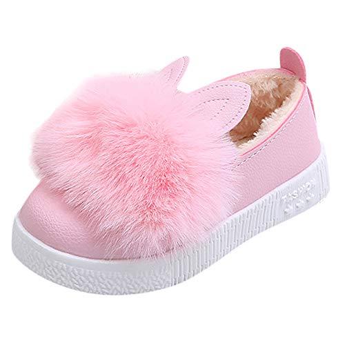 Todaies Children Winter Warm Baby Sneaker Girl Bunny Soft Anti-Slip Boot Rabbit Ear Shoe