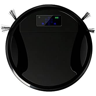 Wewdigi Robotic Vacuum Cleaner, Intelligent Remote Control Sweeping Robot with Multi Cleaning Modes / Anti-collision System / 1000pa Super Suction black