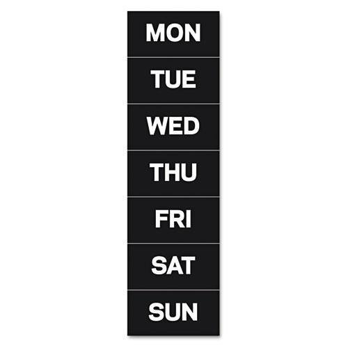 Master Vision FM1007 Calendar Magnetic Tape, Days Of The Week, Black/White, 2 x 1 by MasterVision