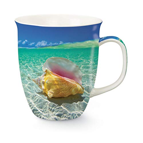 Day Dreaming Coastal Conch Shell 16 Oz Coffee Latte Tea Harbor Mug Cape Shore ()