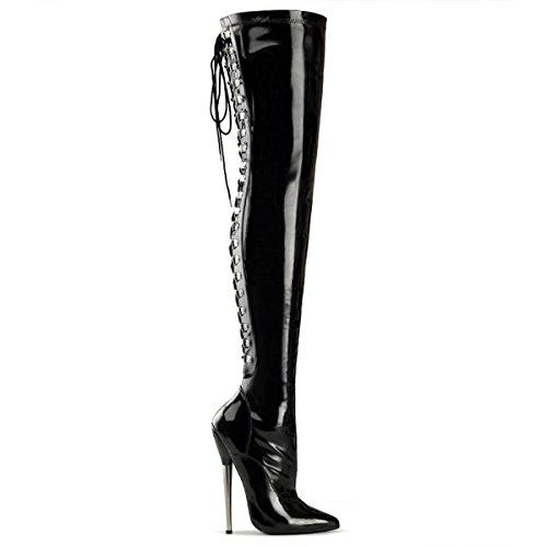 Heels-Perfect, Stivali donna Nero (Nero (nero))