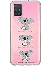 Oihxse Compatible con Samsung Galaxy M20/A820 Funda Cristal Silicona TPU Suave Ultra-Delgado Protector Estuche Creativa Patrón Protector Anti-Choque Carcasa Cover(Pereza A3)