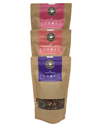 eat Performance® Variety Müsli Box (3x 325g) - Bio, Paleo, Glutenfreies Granola Aus 100% Natürlichen Zutaten