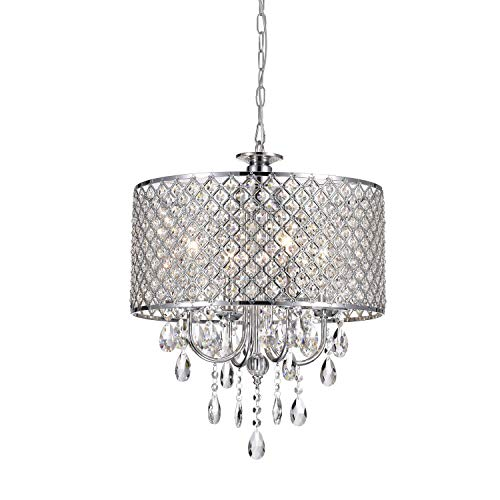 Chrome Finish 4-light Round Chandelier For Sale