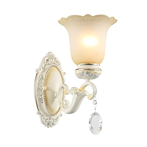 Retro Luxury Crystal Wall Lamp Bedroom Bedside Lamp Living Room Decorative Lighting Stairway Lights Lights House Wall Decoration ( Size : A ) by Crystal