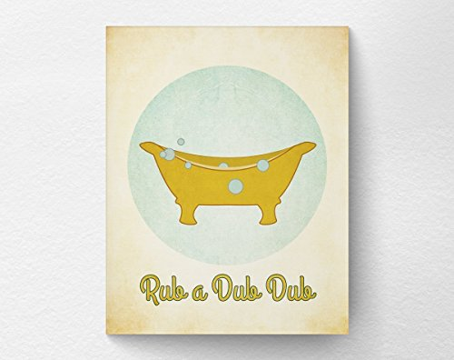 Dub Dub Child Frame (Eric434Keats Rub A Dub Dub Vintage Inspired Bathroom Print Poster Wall Art Decor 8