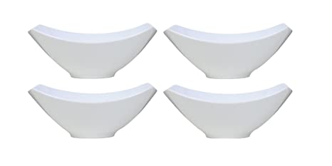 Amazon.com | Over-and-Back 4-Piece Porcelain Serving Bowl Set (4 ...