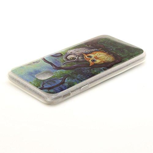 Peint En Hozor Fit Couverture Protection Transparent Slim Samsung 2017 Cas Antichoc TPU Cas Silicone De Arrière Résistant Bord Scratch Souple J330 Owls J3 Téléphone Galaxy De Motif q0qwrpv